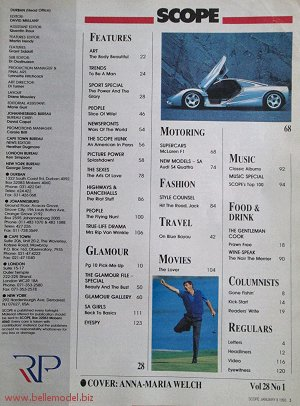 Mens sex magazines, Scope, South African back issues, edition: 8 January 1993