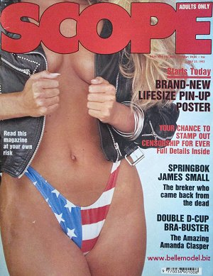 Mens sex magazines, Scope, South African back issues, edition: 23 July 1993