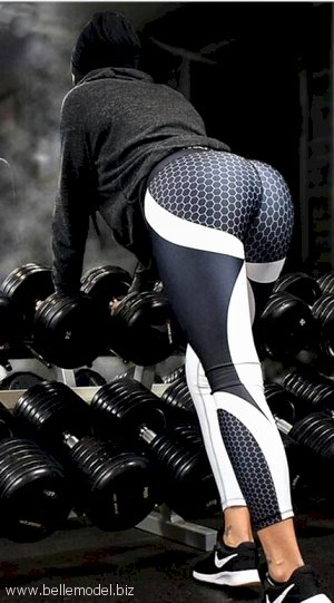 Workout apparel with white stripes, South Africa, Pretoria east