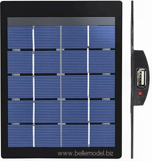 Small solar panel for charging cell phones and mobile devices. South Africa, Pretoria, Gezina