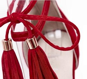 D-Orsay - heel platform - stiletto - height high - lace-up - ankle strap - open toe, tassles, South Africa, Pretoria, Gezina