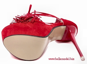 D-Orsay - heel platform - stiletto - height high - lace-up - ankle strap - open toe, view bottom, South Africa, Pretoria, Gezina